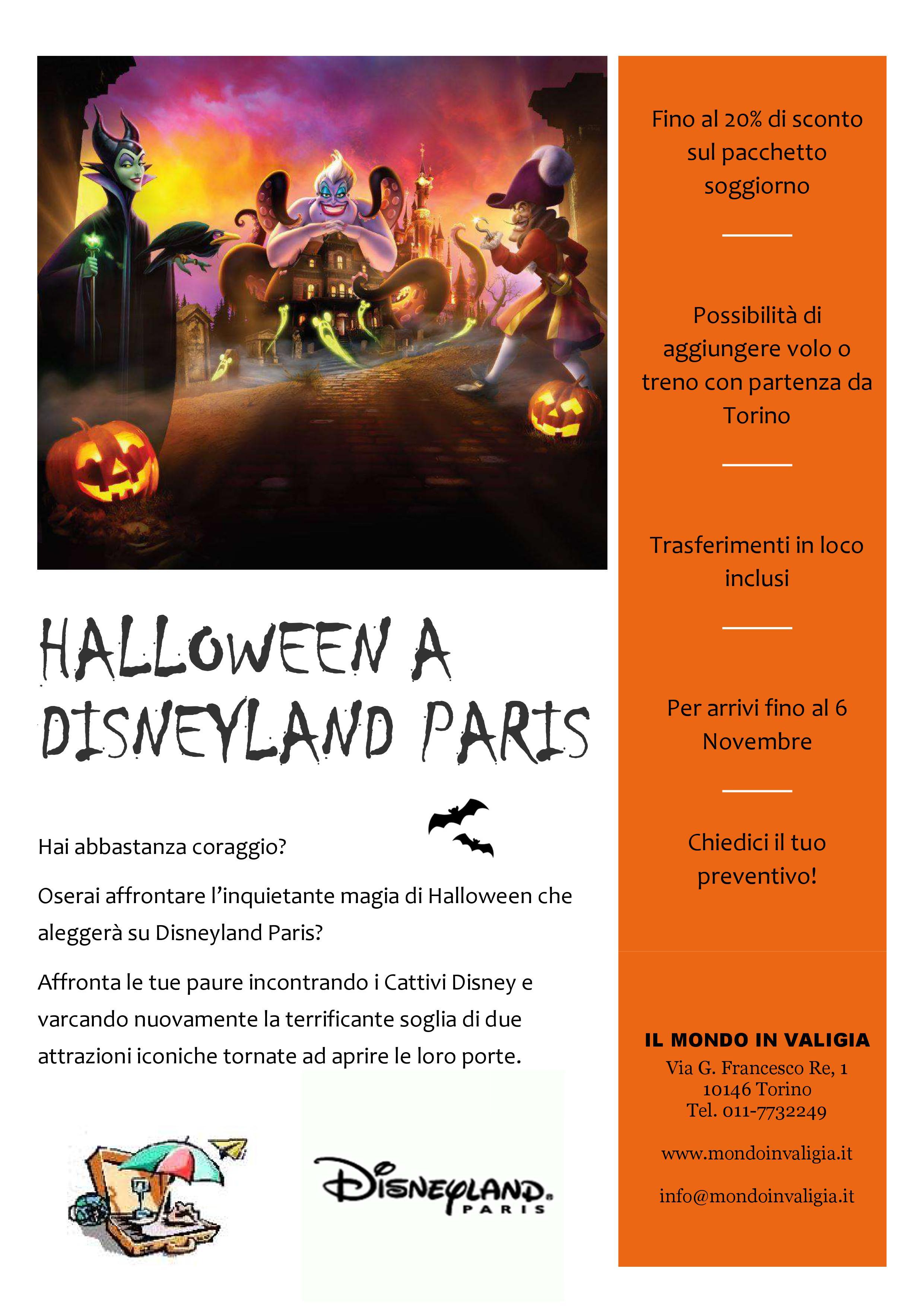 Halloween a Disneyland Pari